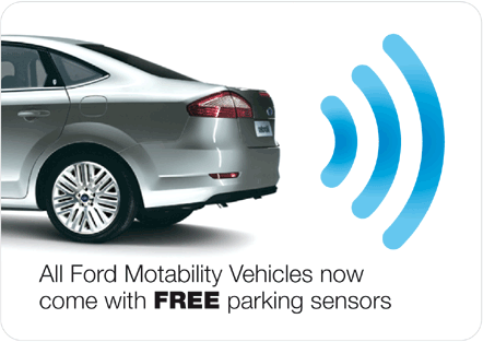Free parking sensors now on all mobility cars